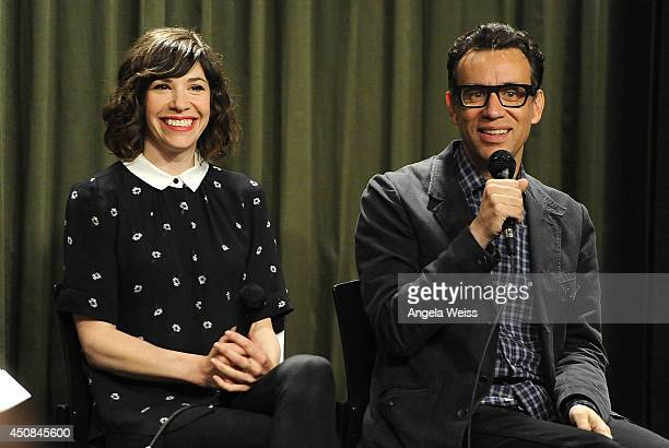 Writer/actor Carrie Brownstein and actor/producer Fred Armisen attend Sag Foundation's Conversations with Portlandia's Fred Armisen and Carrie...