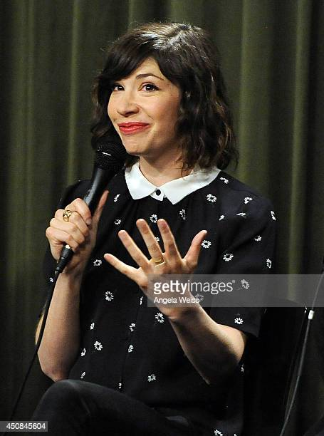 Writer/actor Carrie Brownstein attends Sag Foundation's Conversations with Portlandia's Fred Armisen and Carrie Brownstein held at SAG Foundation...