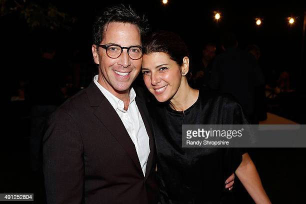 Writer/actor Dan Bucatinsky and actress Marissa Tomei attend the 'Bucatinsky Birthday Benefit For The Trevor Project' on October 3 2015 in Los...