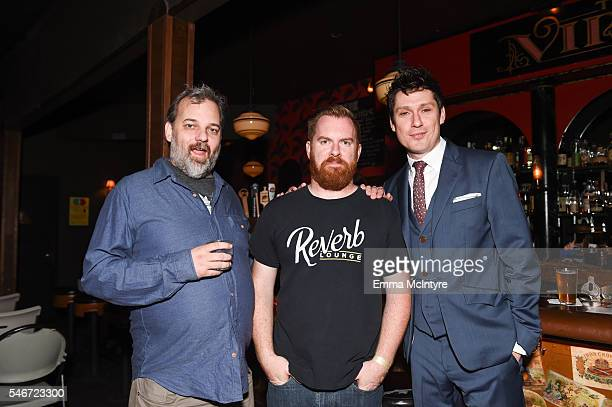 Writer/actor Dan Harmon comedian Bryan Cook and actor/comedian Jeff B Davis attend the Seeso original screening of 'HarmonQuest' with Dan Harmon at...