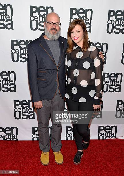 Writer/actor David Cross and actress Amber Tamblyn attend PEN Center USA's 26th Annual Literary Awards Festival honoring Isabel Allende at the...
