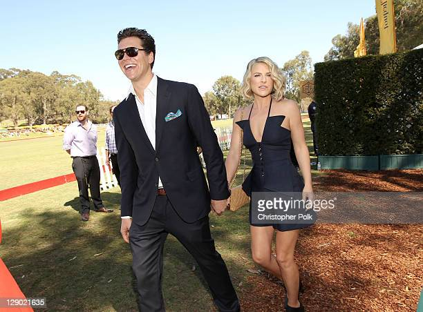 Writer/actor Hayes MacArthur and actress Ali Larter attend Veuve Clicquot Polo Classic Los Angeles at Will Rogers State Historic Park on October 9,...