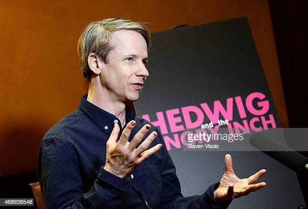 Writer/actor John Cameron Mitchell attends a Photo Call for 'Hedwig and the Angry Inch' starring Darren Criss and Rebecca Naomi Jones at The Lambs...