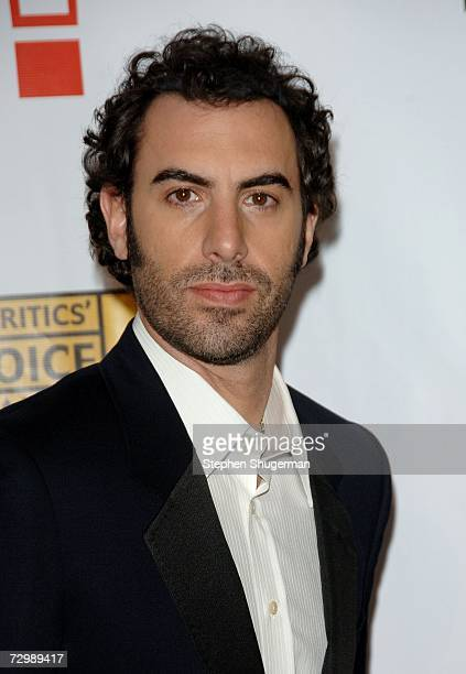 Writer/actor Sacha Baron Cohen arrives at the 12th Annual Critics' Choice Awards held at the Santa Monica Civic Auditorium on January 12, 2007 in...