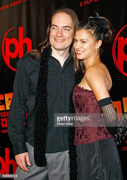 Writer/actor Terrance Zdunich and actress Alisa Burket arrive at a special screening of the Lionsgate film 'Repo The Genetic Opera' at the Planet...
