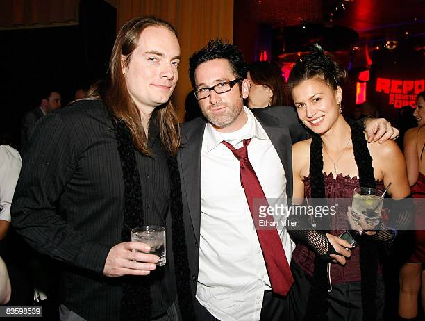 Writer/actor Terrance Zdunich director Darren Lynn Bousman and actress Alisa Burket appear at the after party for a special screening of the...