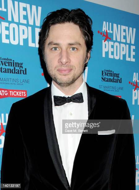 Writer/Actor Zach Braff attends an after party celebrating the press night performance of 'All New People' at St Martin's Lane Hotel on February 28...