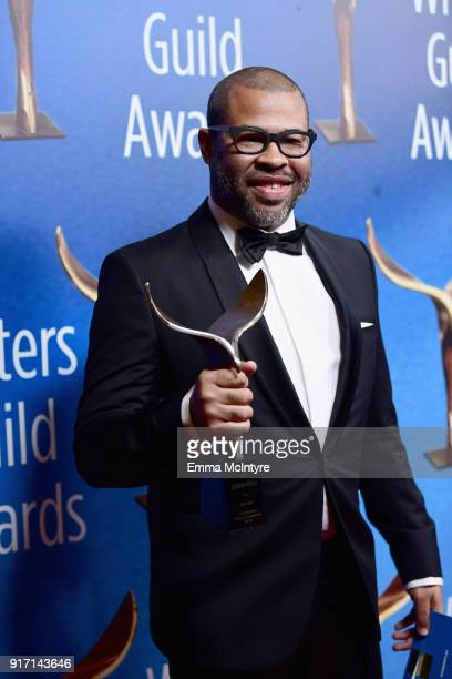 Writer/actor/director Jordan Peele attends the 2018 Writers Guild Awards LA Ceremony at The Beverly Hilton Hotel on February 11 2018 in Beverly Hills...