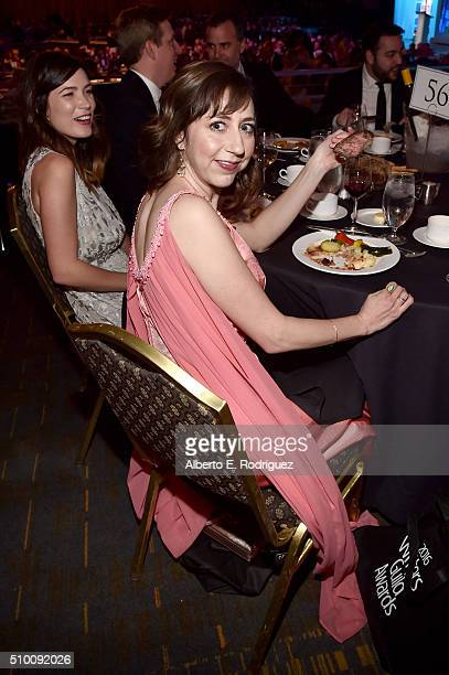 Writer/actress Kristen Schaal attends the 2016 Writers Guild Awards at the Hyatt Regency Century Plaza on February 13 2016 in Los Angeles California