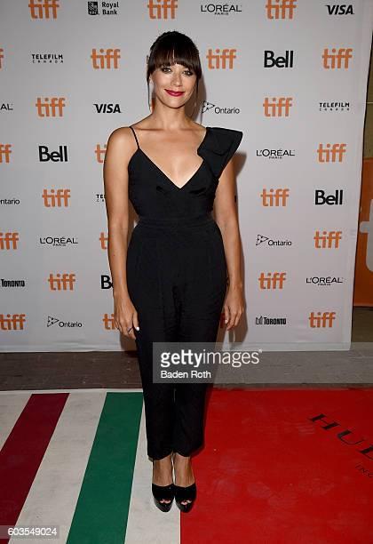 Writer/actress Rashida Jones attends the 'Black Mirror' Premiere during the 2016 Toronto International Film Festival at Ryerson Theatre on September...