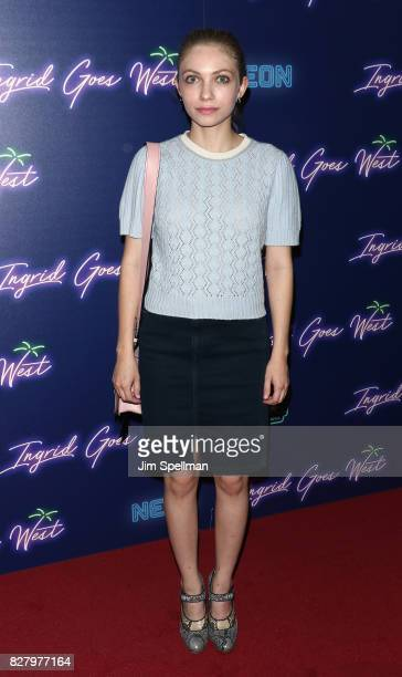 Writer/actress Tavi Gevinson attend The New York premiere of Ingrid Goes West hosted by Neon at Alamo Drafthouse Cinema on August 8 2017 in the...