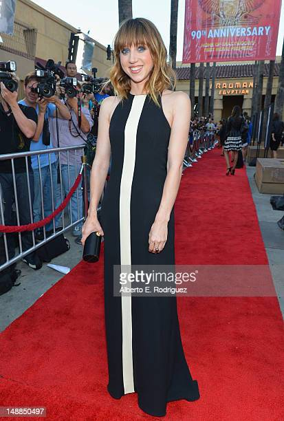 Writer/actress Zoe Kazan arrives to the premiere of Fox Searchlight's Ruby Sparks at the Egyptian Theatre on July 19 2012 in Hollywood California