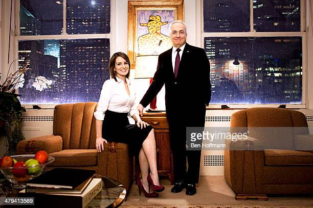 Writer/actress/comedian Tina Fey and producer Lorne Michaels are photographed for The Hollywood Reporter on December 10 2010 in New York City