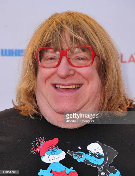 Writer/comedian Bruce Villanch arrives to the Geffen Playhouse's Annual 'Backstage at the Geffen' Gala on May 2 2011 in Los Angeles California