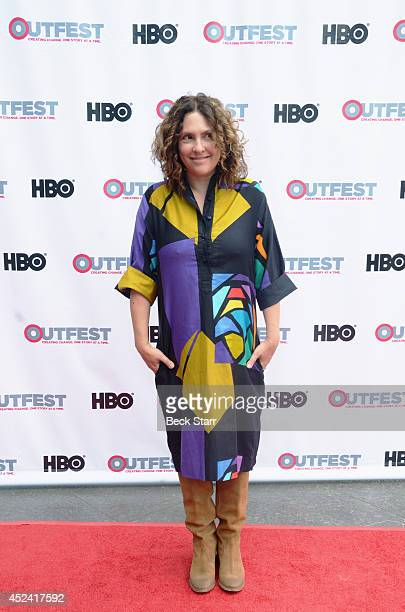 Writer/comedian Jill Soloway arrives at the 2014 Outfest Los Angeles panel discussion of the film Transparent at DGA Theater on July 19 2014 in Los...