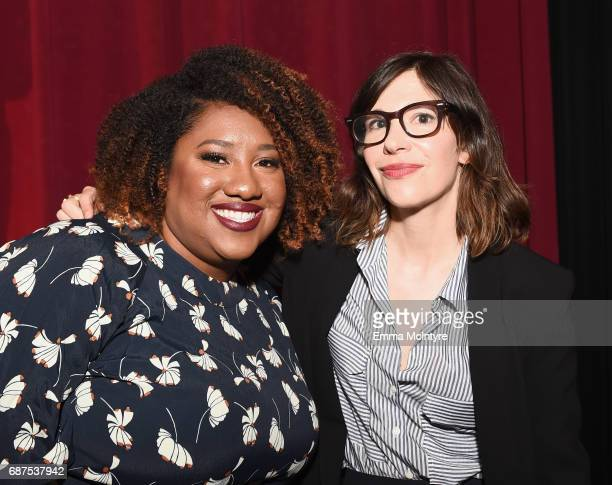Writer/corresponder Ashley Nicole Black and Actor Carrie Brownstein at the Full Frontal with Samantha Bee FYC Event 2017 LA at the Samuel Goldwyn...