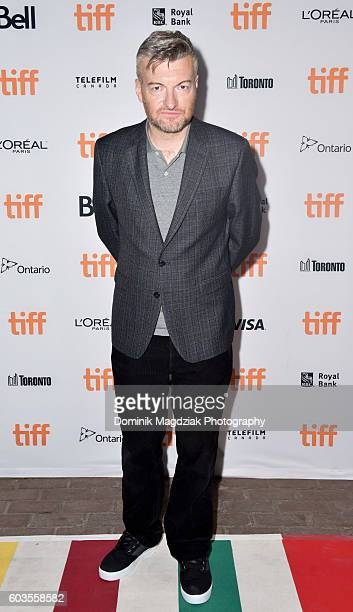 Writer/creator Charlie Brooker attends the 'Black Mirror' premiere during the 2016 Toronto International Film Festival at the Ryerson University...
