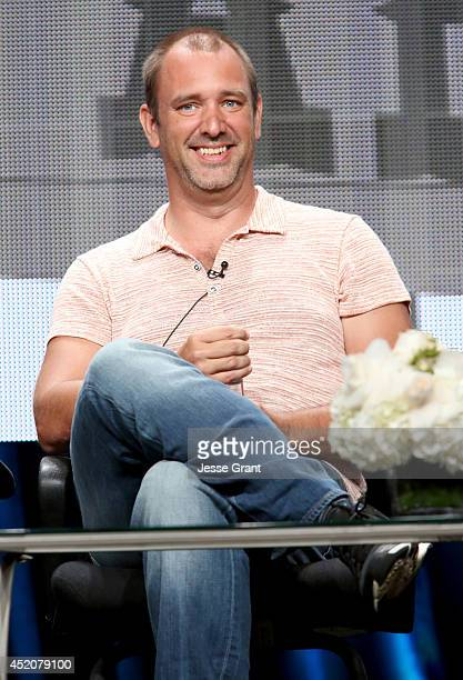 Writer/creator Trey Parker speaks onstage during the 'South Park' panel at Hulu's TCA Presentation at The Beverly Hilton Hotel on July 12 2014 in...