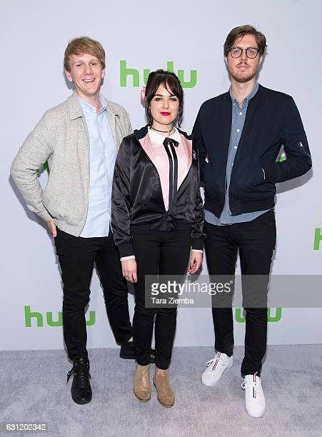 Writer/creator/actor Josh Thomas, actress Emily Barclay and actor Thomas Ward attend the 2017 Hulu Television Critics Association winter press tour...