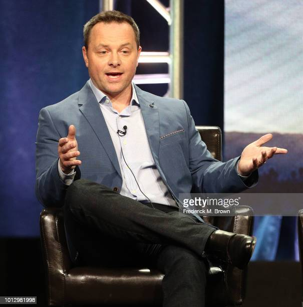 Writer/Creator/Executive Producer Alexi Hawley of the television show 'The Rookie' speaks during the Disney/ABC segment of the Summer 2018 Television...