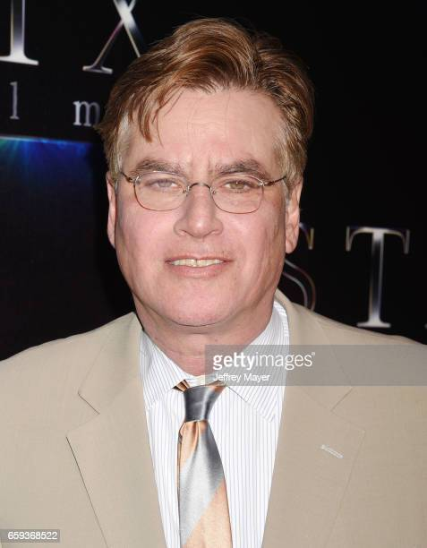 Writer/director Aaron Sorkin at CinemaCon 2017 The State of the Industry Past Present and Future and STX Films Presentation at The Colosseum at...