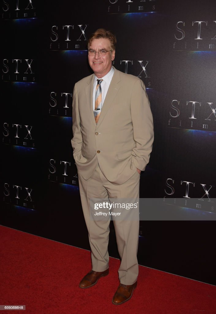 Writer/director Aaron Sorkin at CinemaCon 2017 The State of the Industry: Past, Present and Future and STX Films Presentation at The Colosseum at Caesars Palace during CinemaCon, the official convention of the National Association of Theatre Owners, on March 28, 2017 in Las Vegas, Nevada.