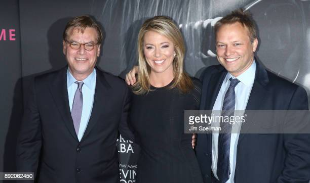 Writer/director Aaron Sorkin journalist Brooke Baldwin and James Fletcher attend the Molly's Game New York premiere at AMC Loews Lincoln Square on...