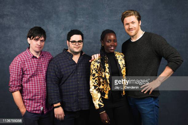 Writer/director Abe Forsythe actors Josh Gad Lupita Nyongo and Alexander England from 'Little Monsters' are photographed for Los Angeles Times on...