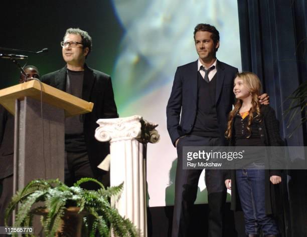 Writer/Director Adam Brooks Actors Ryan Reynolds and Abigail Breslin attend the 2008 Santa Barbara Film Festival World Premiere of DefinitelyMaybe...