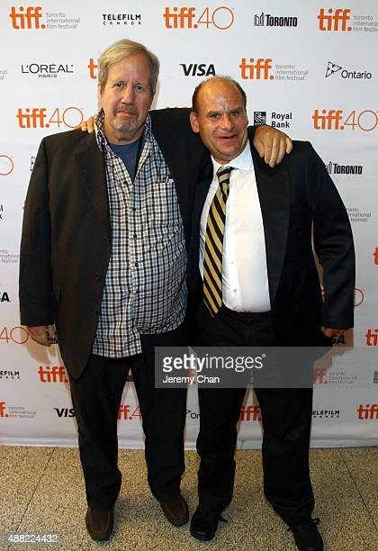 Writer/director Alan Zweig and film subject Steve Fonyo attend the HURT photo call during the 2015 Toronto International Film Festival at The Elgin...