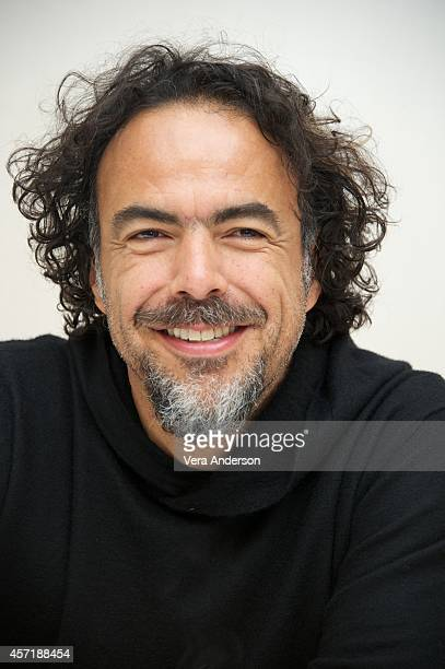 WriterDirector Alejandro G Inarritu at the 'Birdman' Press Conference at The New York Palace Hotel on October 13 2014 in New York City