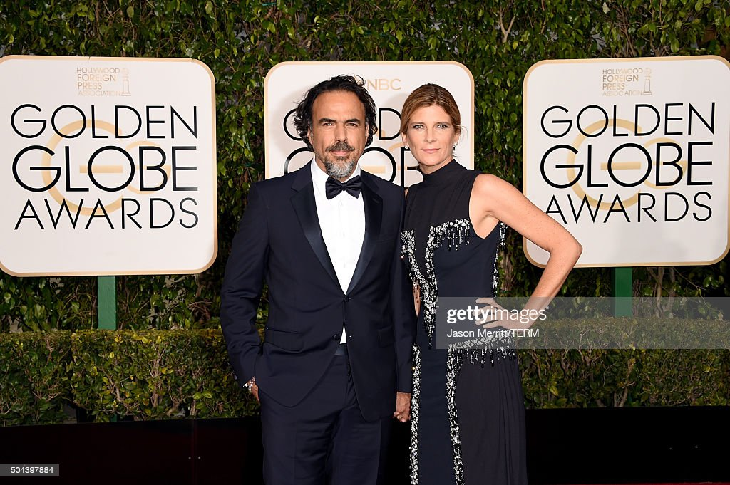 Writer/director Alejandro Gonzalez Inarritu (L) and Maria Eladia attend the 73rd Annual Golden Globe Awards held at the Beverly Hilton Hotel on January 10, 2016 in Beverly Hills, California.