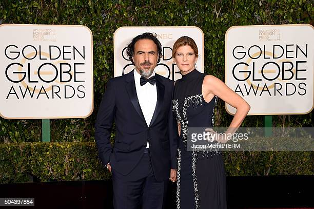 Writer/director Alejandro Gonzalez Inarritu and Maria Eladia attend the 73rd Annual Golden Globe Awards held at the Beverly Hilton Hotel on January...