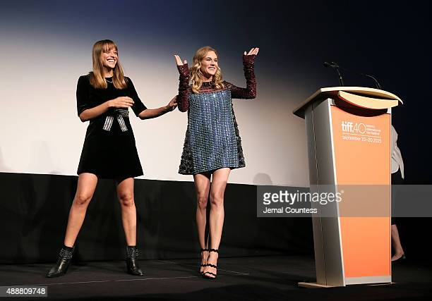 Writer/Director Alice Winocour and actress Diane Kruger onstage at the Disorder premiere during the 2015 Toronto International Film Festival at Roy...