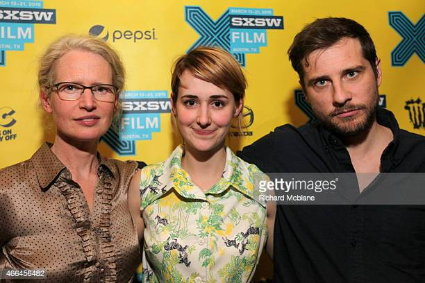 """Writer/director Alison Bagnall, actress Joslyn Jensen and actor Kentucker Audley attend the premiere of """"Funny Bunny"""" during the 2015 SXSW Music,..."""