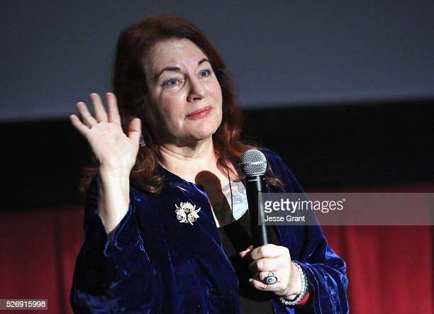 Writer/director Allison Anders speaks onstage at 'All That Heaven Allows' screening during day 4 of the TCM Classic Film Festival 2016 on May 1 2016...