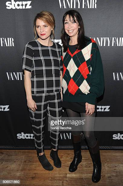 Writer/Director Amy Seimetz and actress Illeana Douglas attends 'The Girlfriend Experience' cast party at Wasatch Brew Pub on January 23 2016 in Park...