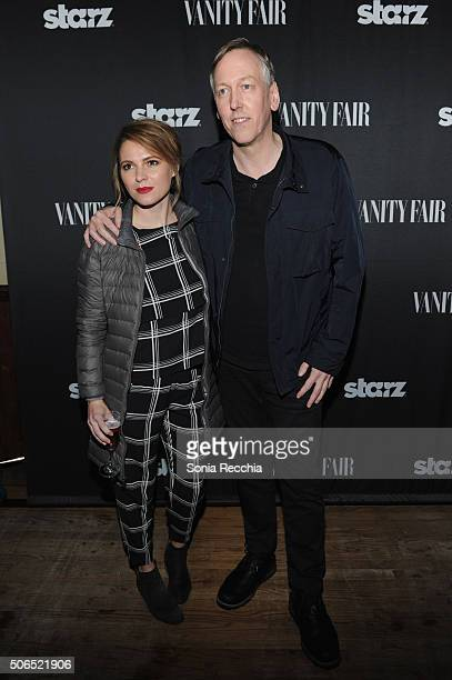 Writer/Director Amy Seimetz and writer/director Lodge Kerrigan attend 'The Girlfriend Experience' cast party at Wasatch Brew Pub on January 23 2016...