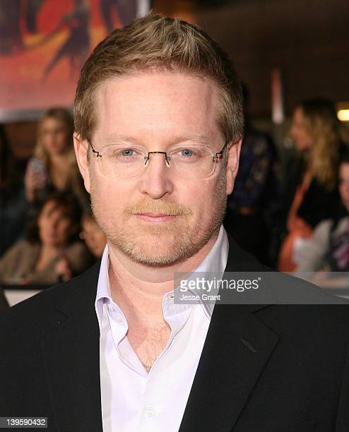 Writer/director Andrew Stanton arrives at the premiere of Walt Disney Pictures' 'John Carter' held at Regal Cinemas LA Live on February 22 2012 in...