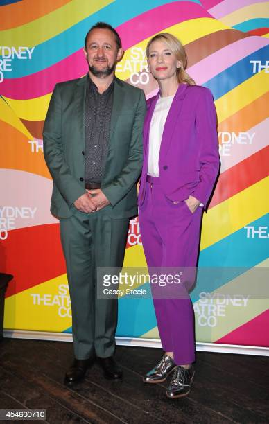 Writer/director Andrew Upton and actress Cate Blanchett attend the Sydney Theatre Company 2015 season launch at the Sydney Theatre Company on...