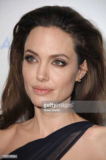 Writer/Director Angelina Jolie arrives at 'In the Land of Blood and Honey' premiere held at ArcLight Cinemas on December 8 2011 in Hollywood...
