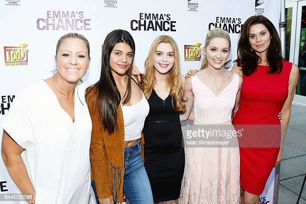 Writer/director Anna Elizabeth James actors Amber Montana Shanna Strong Greer Grammer and Jennifer Taylor attend the screening of Sony Pictures Home...