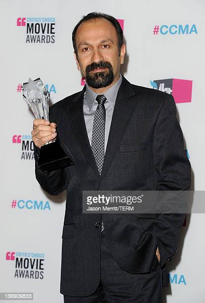 Writer/Director Asghar Farhadi winner of the Best Foreign Language Film Award for'A Separation' poses in the press room during the 17th Annual...