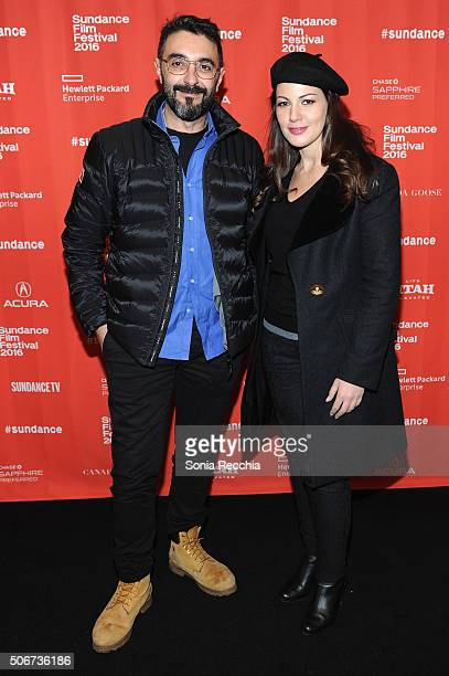 Writer/director Assad Fouladkar and actress Darine Hamze attend the 'Halal Love ' Premiere during the 2016 Sundance Film Festival at Prospector...