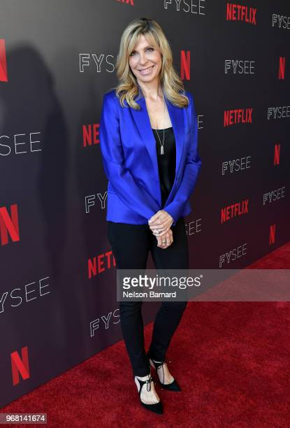 Writer/Director Barbara Schroeder attends the Netflix FYSEE Evil Genius Panel at Raleigh Studios on June 5 2018 in Los Angeles California