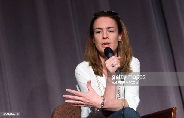 Writer/director Benedicte Delmas attends a QA during the Colcoa French Film Festival on May 1 2017 in Los Angeles California / AFP PHOTO / VALERIE...