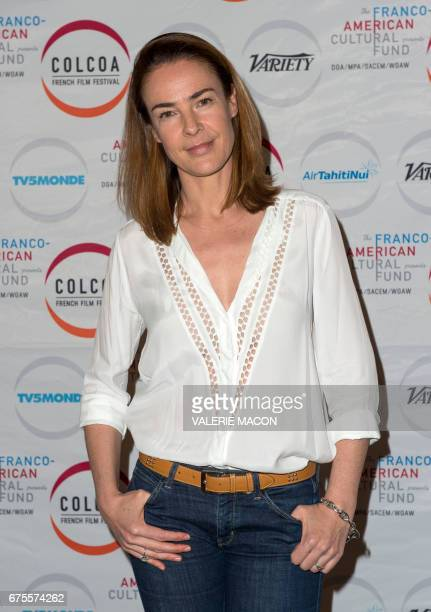 Writer/director Benedicte Delmas attends Colcoa French Film Festival day 8 on May 1 in Los Angeles California / AFP PHOTO / VALERIE MACON