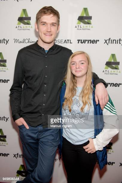 Writer/Director Bo Burnham and actress Elsie Fisher attend the 42nd Annual Atlanta Film Festival closing night 'Eighth Grade' screening at Plaza...