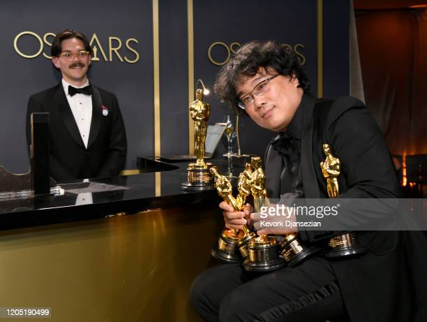 "Writer-director Bong Joon-ho, winner of the Best Picture, Director, Original Screenplay, and International Feature Film awards for ""Parasite,""..."