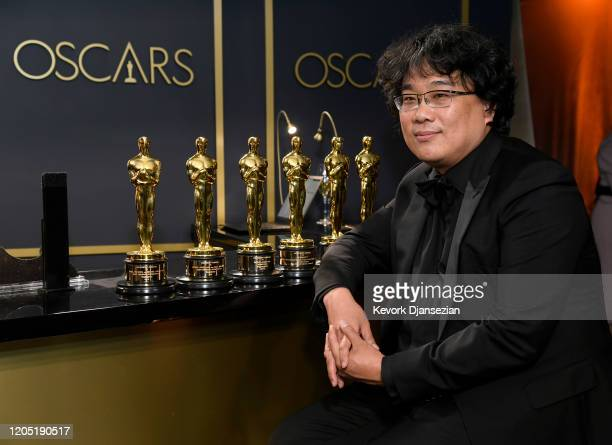 Writerdirector Bong Joonho winner of the Best Picture Director Original Screenplay and International Feature Film awards for Parasite attends the...